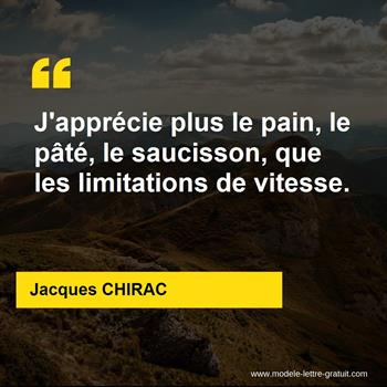 Citations Jacques CHIRAC