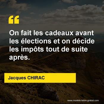 Citations Jacques CHIRAC