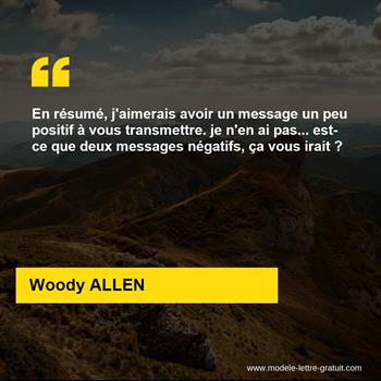 Citations Woody ALLEN
