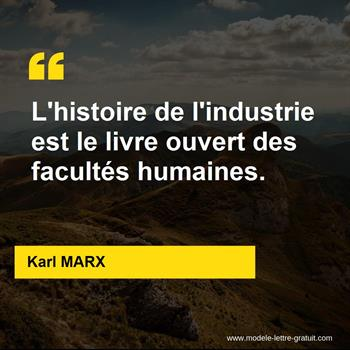 Citations Karl MARX