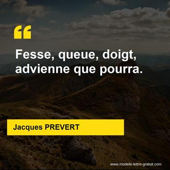 Citations Jacques PREVERT