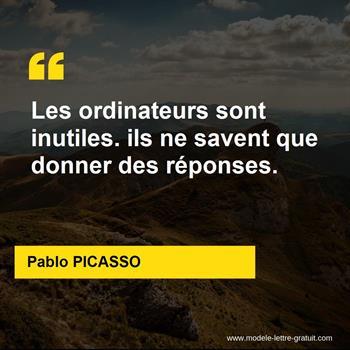 Citations Pablo PICASSO