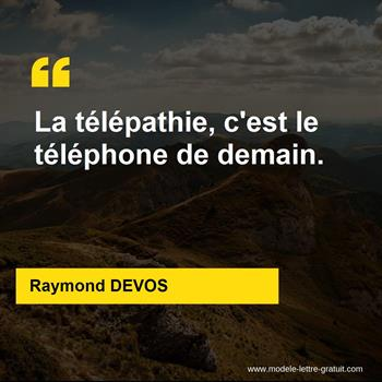 Citations Raymond DEVOS