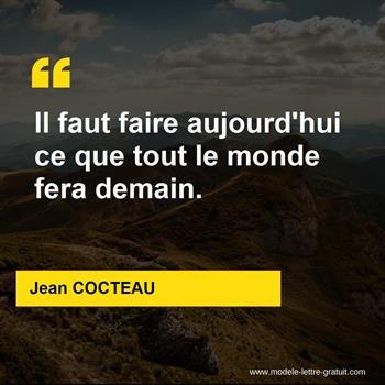Citation de Jean COCTEAU