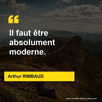 Citations Arthur RIMBAUD