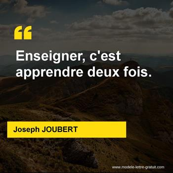 Citations Joseph JOUBERT