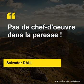 Citations Salvador DALI
