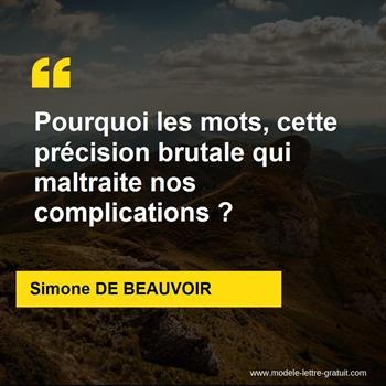 Citations Simone DE BEAUVOIR