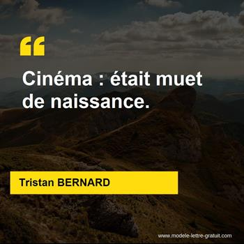 Citations Tristan BERNARD
