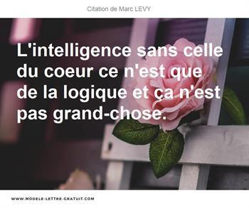 L Intelligence Sans Celle Du Coeur Ce N Est Que De La