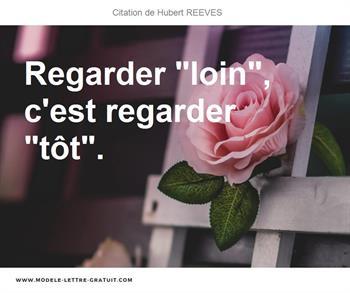 Citation de Hubert REEVES