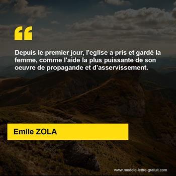 Citation de Emile ZOLA