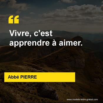 Citations Abbé PIERRE