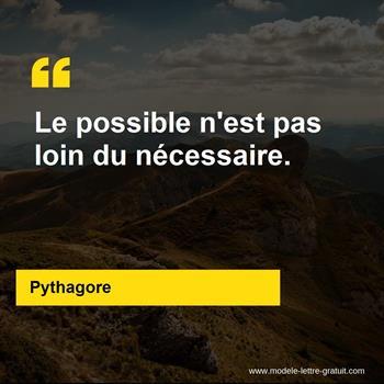 Citations Pythagore