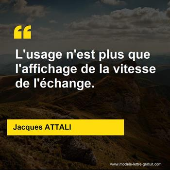 Citations Jacques ATTALI