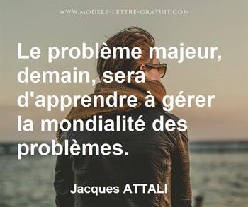 Citation de Jacques ATTALI