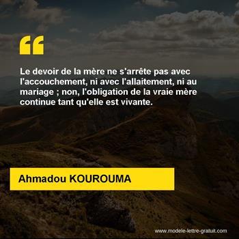 Citations Ahmadou KOUROUMA