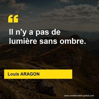 Citations Louis ARAGON