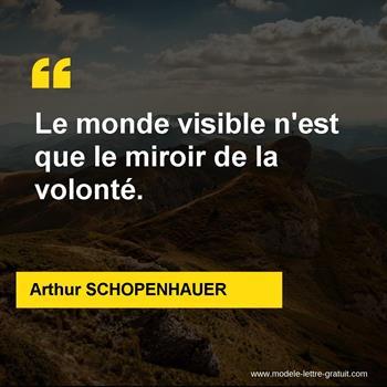 Citations Arthur SCHOPENHAUER