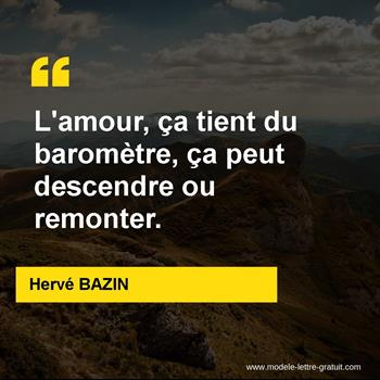 Citations Hervé BAZIN