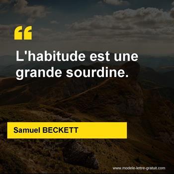 Citations Samuel BECKETT