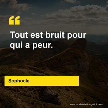 Citations Sophocle