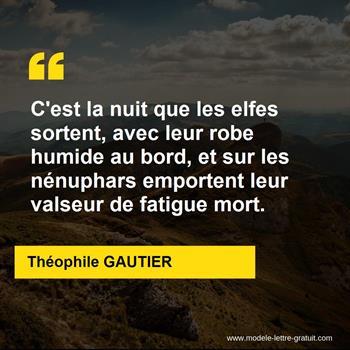 Citations Théophile GAUTIER