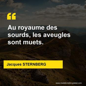 Citations Jacques STERNBERG