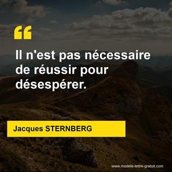 Citations Jacques STERNBERG