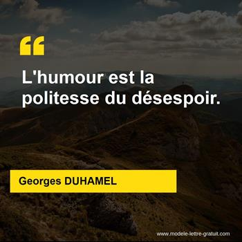 Citations Georges DUHAMEL