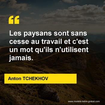 Citations Anton TCHEKHOV