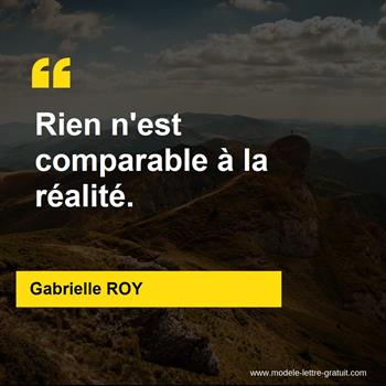 Citations Gabrielle ROY