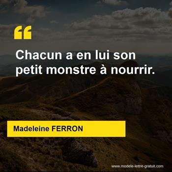 Citations Madeleine FERRON