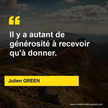 Citations Julien GREEN