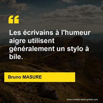 Citation de Bruno MASURE