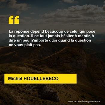 Citations Michel HOUELLEBECQ