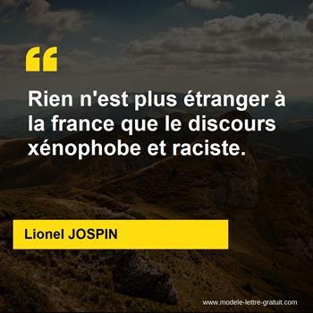 Citations Lionel JOSPIN