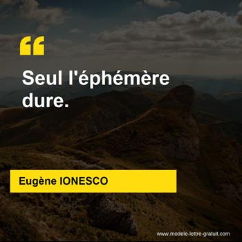 Citations Eugène IONESCO