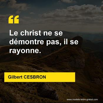Citations Gilbert CESBRON