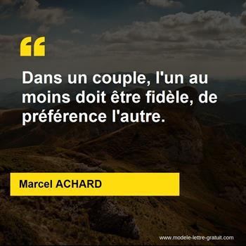 Citations Marcel ACHARD