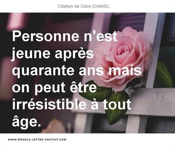 Citation de Coco CHANEL