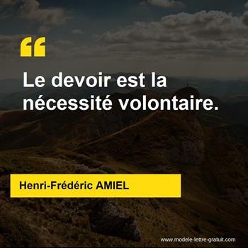 Citations Henri-Frédéric AMIEL