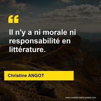 Citations Christine ANGOT