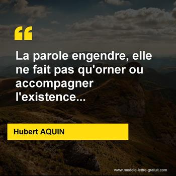 Citations Hubert AQUIN