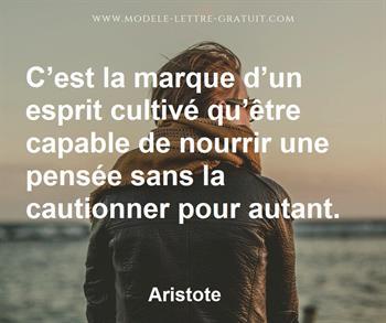 Citation de Aristote