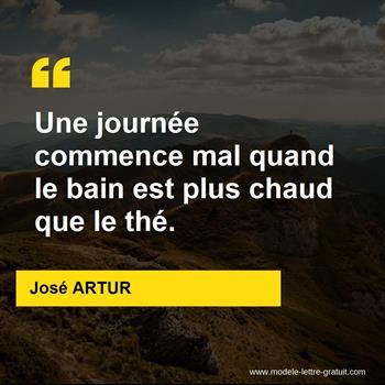 Citation de José ARTUR