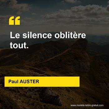 Citations Paul AUSTER