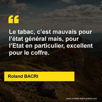 Citations Roland BACRI