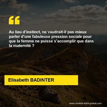 Citations Elisabeth BADINTER