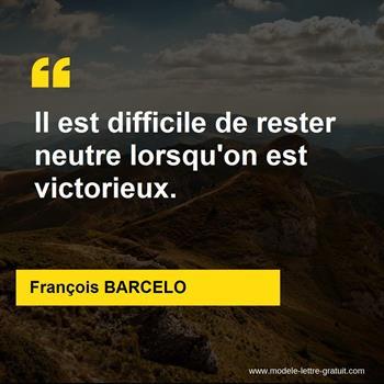 Citations François BARCELO